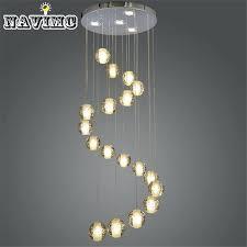 bubble ball chandelier lights modern led crystal chandelier light fixture bubble ball loft stairwell crystal light