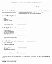 Example Of Certificate Of Employment Best Of Certificate Employment