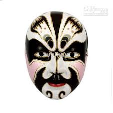 Decorative Masquerade Masks Paper Mache Mens Masquerade Mask Chinese Opera Masks 54