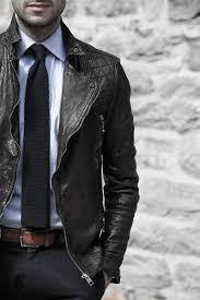 navy tie with light blue dress shirt male style how to wear a leather jacket brown
