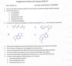 chemistry assignments of chem session
