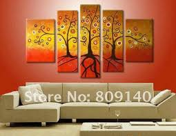 office canvas art. Oil Painting Canvas Family Fortune Tree Modern Decoration High Quality Handmade Home Office Hotel Wall Art Decor Gift Free Ship