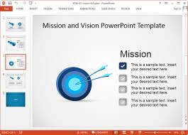 Vision And Mission Statement Template For Powerpoint