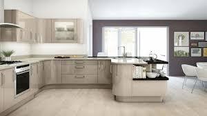 avant cappuccino high gloss u shape fitted kitchen
