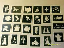 christmas card stencils christmas greeting card making set inc 30 mixed stencils glitter