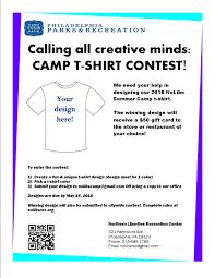 Design Contest Rules T Shirt Design Contest Northern Liberties Recreation Center