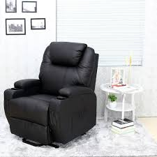 cinemo elecrtic rise recliner leather massage heat armchair sofa lounge chair black co uk kitchen home
