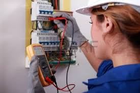 conduit box stock photos pictures royalty conduit box conduit box female electrician taking reading from fuse box stock photo