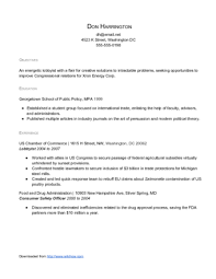 Sample Results Oriented Public Policy Resume