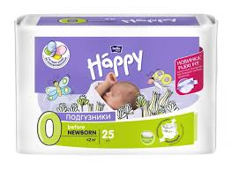<b>Bella baby</b> Happy <b>Подгузники</b> Happy Before <b>Newborn</b> (0-2 кг) 25 шт.