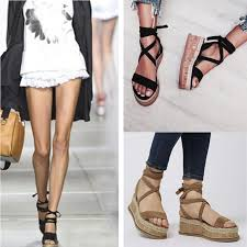 Women <b>Summer Shoes Sandals</b> Ankle Strap <b>Roman</b> Lace-up ...