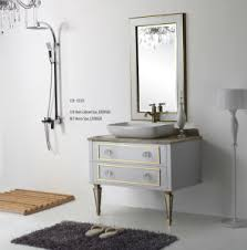 China Bathroom Cabinet New Fashion Embossment Cabinet Design