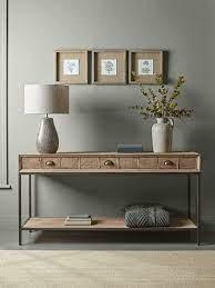 reclaimed oak console table