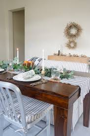 Scandinavian Glam Holiday Simple Modern Dining Table Decor Holiday