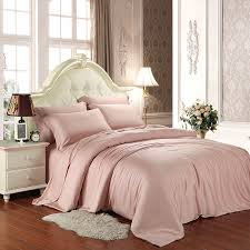 noble eelgance solid pale pink simply shabby chic girly girls twin full queen king size luxury soft tencel lyocell bedding sets