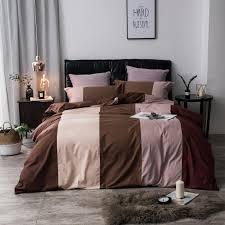 twin queen king size 100 cotton bedding sets s kids coffee brown blue purple bedding set duvet cover bed sheet linen set duvet cover queen duvet covers
