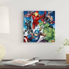 marvel s avengers classic situational art group graphic art print on canvas on marvel spiderman canvas wall art 4 piece with marvel avengers wall art wayfair