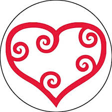 Scroll Heart Adhesive Label 15289c Teacher Scroll Heart School Stickers 2 1 2 Inch Red White Roll Of 100