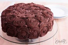 Chocolate Rose Cake Home Cooking Adventure