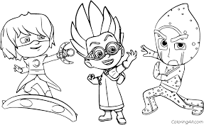 Some of the coloring page names are pj masks for children pj masks kids coloring, 35 unique pj masks coloring, pj masks santa claus click on the coloring page to open in a new window and print. Luna Girl Romeo And Night Ninja From Pj Masks Coloring Page Coloringall