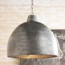 oversized pendant lighting. Hammered Steel Oversized Dome Pendant Aged_steel Lighting I