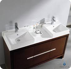 Gym EquipmentFresca Allier 60 Wenge Brown Modern Double Sink
