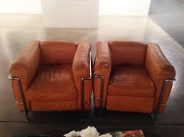 Beautiful pair of original Le Corbusier LC2 chairs.   Art ...