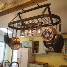 Pots Awesome Pot Decoration Diy Kitchen Rack Hanging In