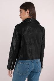 bad blood black moto jacket