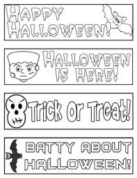 Printable halloween bookmarks to color. Printable Bookmarks To Color Halloween Worksheets Tpt