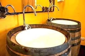 wine barrel sink wine barrel sink barrel sink bathroom wine barrel whiskey barrel bathroom sink how