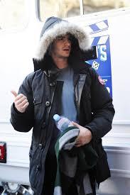 Andrew Garfield wears Canada Goose Banff Parka Coyote Fur Trim Coat on  Spider-Man 2 Set   UpscaleHype