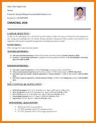 Resume Job Cv Sample Pdf Applicationat For Letter Biodata