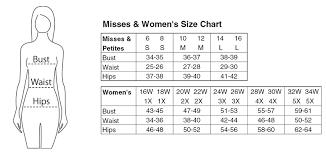 Misses Size Chart Drleonards Com