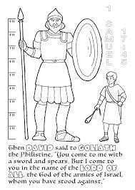 David And Goliath Colouring David And Goliath Bible Colouring