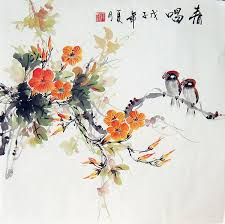 chinese flower paintings flowers and birds