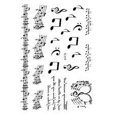 большой эскиз Taty черно белые музыкальные ноты Water Transfer Body Art временные наклейки