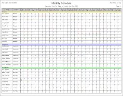 Printable Work Schedule Templates Free Blank Work Schedules As Well Printable Templates With Schedule