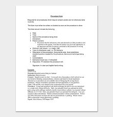 Procedure Note Template Medical Note Template 30 Doctor Note Samples