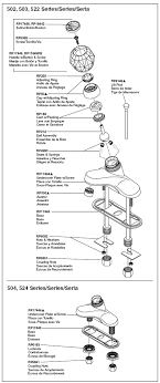 parts diagram for single handle bathroom faucet models 502 503 504 522 delta shower faucet repair parts