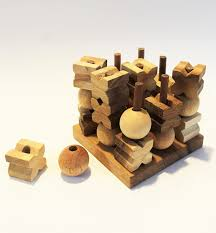 Wooden Strategy Games 100D Tic Tac Toe Medium Strategy Wooden Game Solve It Think 19