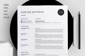 Impressive Resume Templates ResumeCV Sawyer By Bilmaw Creative On Creative Market W O R K 22