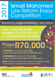 juta articles the competition d in honour of the late chief justice and former chairperson of the south african law reform commission encourages critical legal