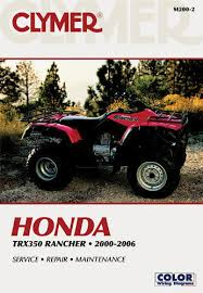 honda trx350 trx 350 rancher atv quad clymer repair manual m200