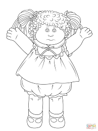 Small Picture Cabbage Patch Doll coloring page Free Printable Coloring Pages