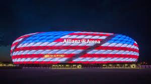 Bayern Munich Stadium Lights Bayern Munich Allianz Arena Red White Blue For July 4