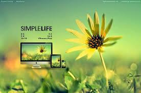 Simple Life Status Wallpaper