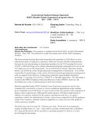 Federal Cover Letter Cover Letter Database