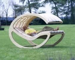 image of stylish wood outdoor furniture