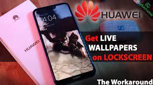 Live lockscreens on Huawei phone ...